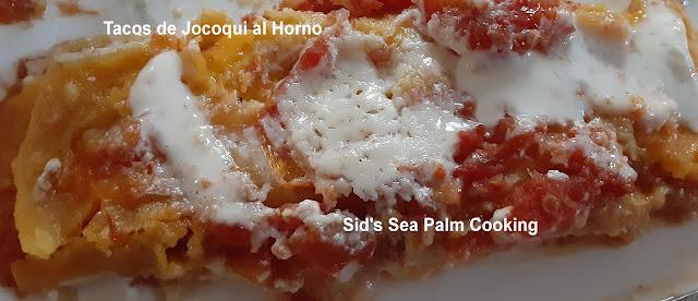 Tacos de Jocoqui al horno  (Baked Sour Cream Tacos)