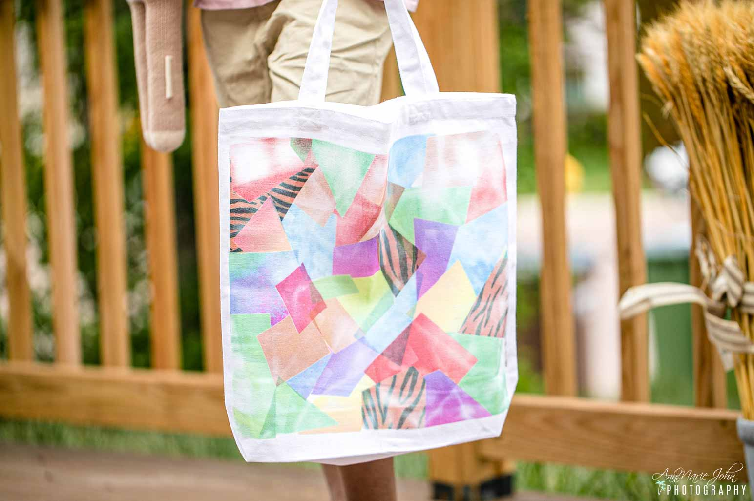 Hot Mess Tie-Dye Tote Made With Cricut Infusible Ink Scraps