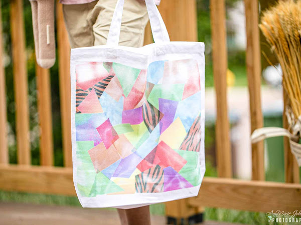 Reuse Your Cricut Infusible Ink Scraps and Make this Hot Mess Tie-Dye Tote - No Machines Required ~ #CricutCreated