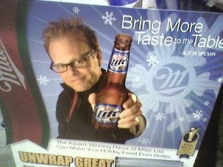 Alton's endorsement of Miller Lite was just about as bad as Todd English's endorsement of Michelob.