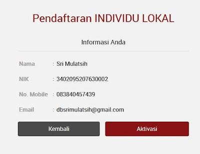 Konfirmasi Formulir Pendaftaran Akun AKSes KSEI