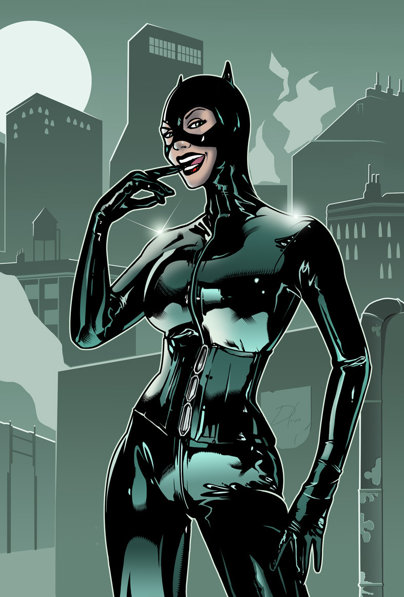 the comics girls catwoman. Black Bedroom Furniture Sets. Home Design Ideas