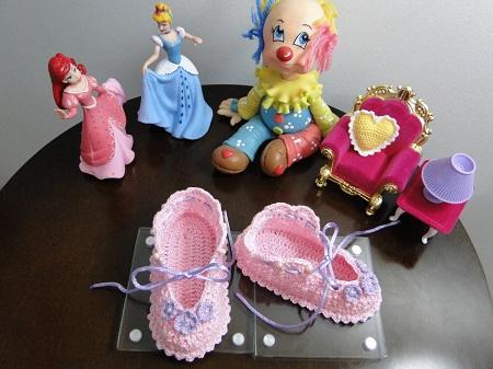 Sapatinhos de bebê em crochê com gráfico por Pecunia MM