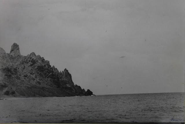 Fotografía original OVNI de isla de Trinidad por Almiro Baraúna - 16 de enero de 1958
