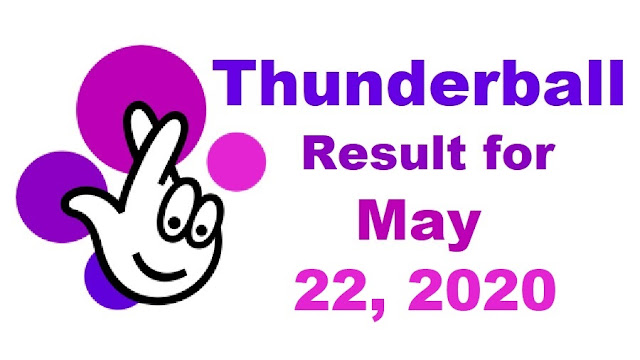 Thunderball Results for Friday, May 22, 2020