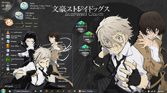 Theme Windows 7 Bungou Stray Dogs By Bashkara
