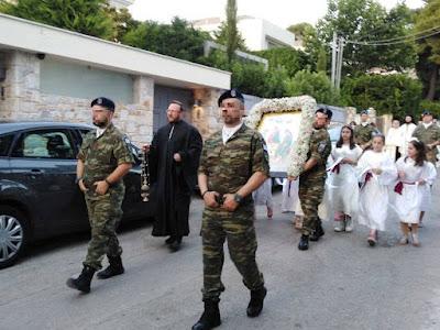 Λιτάνευση στον Ιερό Ναό Αγίας Τριάδος Εκάλης