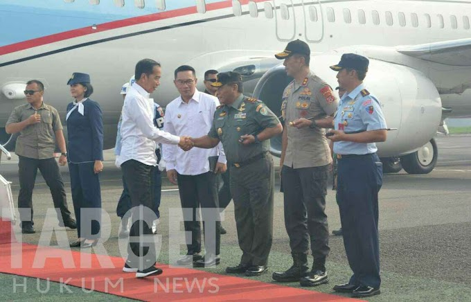 Pangdam III Siliwangi Bersama Gubernur dan Kapolda Jabar Sambut Kedatangan Presiden RI
