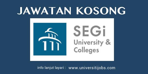 Jawatan Kosong SEGi University & Colleges 2016