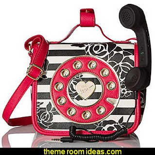 Betsey Johnson Mini Phone Crossbody   Bags - Handbags and More Bags! - shoulder bags - unique bags - evening bags - wallets - fashion bags - luggage - backpacks -  purse jewelery - novelty Kitsch  bags