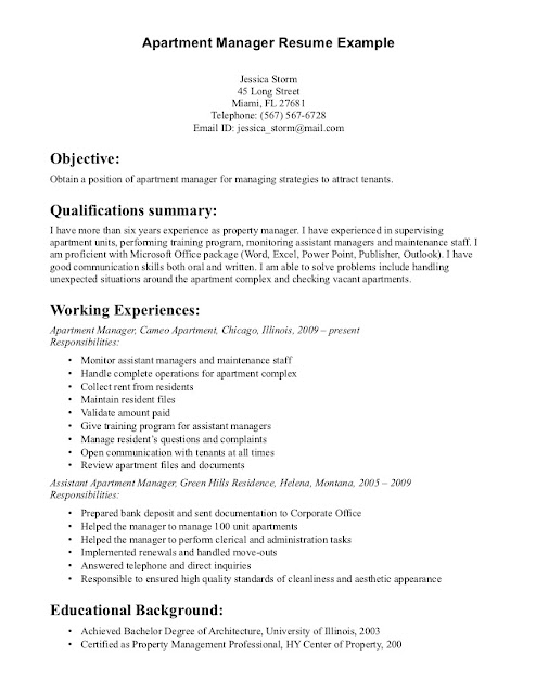 Property Manager Resume Sample | Sample Resumes