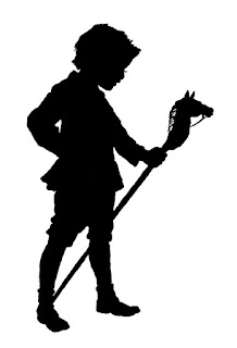 boy antique toy silhouette image illustration