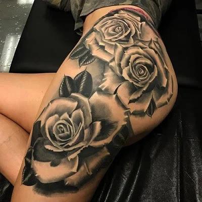 Flower design Tattoo for girls