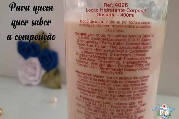 Resenha - Loção Hidratante Ousadia Facinatus