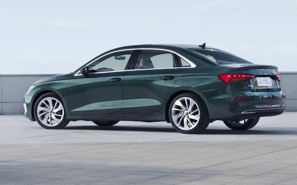 Novo Audi A3 chega à China com entre eixos alongado no sedã