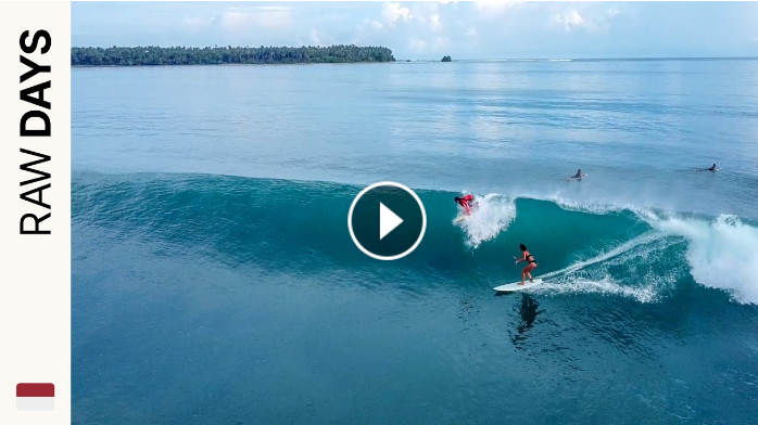 RAW DAYS Nias North Sumatra Indonesia Glassy waves