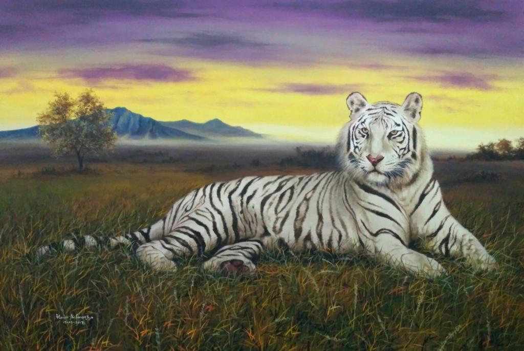 Gt Gt Lukisan Harimau Macan Singa Stok Tersedia Galeri