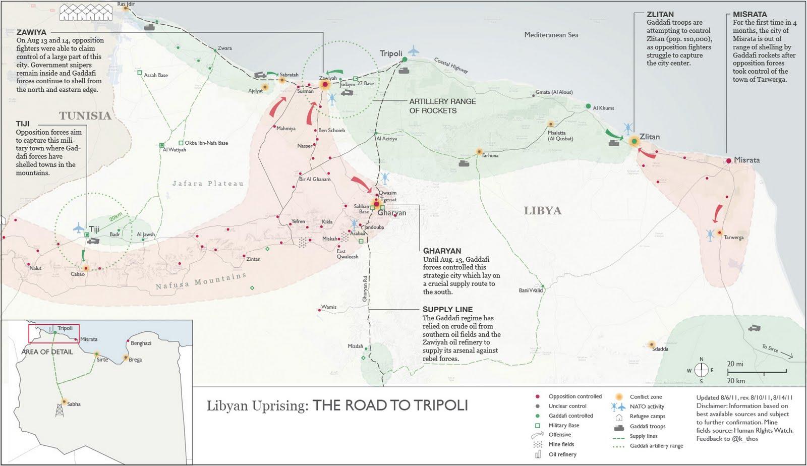 Map of tripoli libya