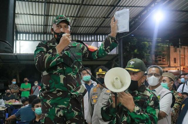 Dandim 0101/BS Berserta Forkopimda gelar Razia Prokes di wilayah kota Banda Aceh