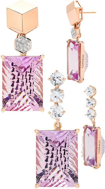 Paolo Costagli pink & purple amethyst diamond earrings #brilliantluxury