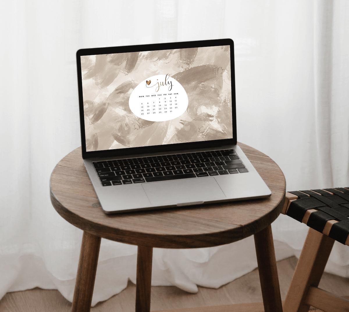 desktop july feminine romantic wallpaper
