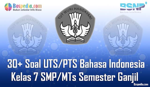 30+ Contoh Soal UTS/PTS Bahasa Indonesia Kelas 7 SMP/MTs Semester Ganjil Terbaru