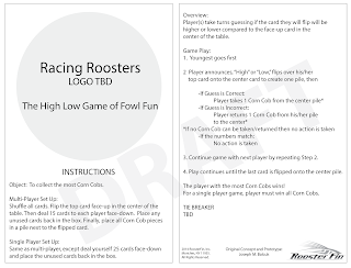 Client Brief Instructions for new game, Rooster Race, for ITD to develop