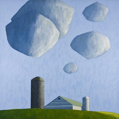 White Silo, 2007 por Scott Redden - Oil on linen