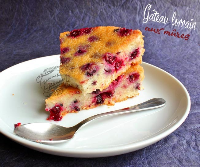 Gâteau lorrain aux mûres