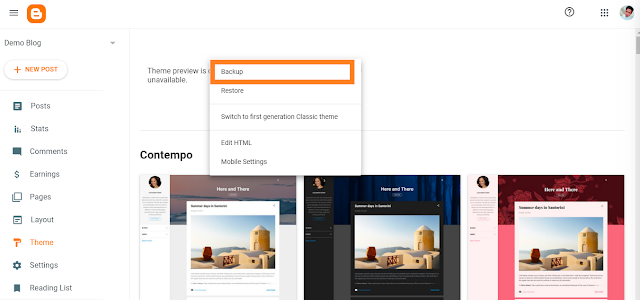 How to install blogger template 2020 step 3