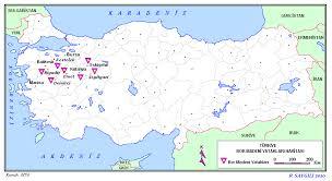 Ülkemizdeki Bor Madeni Rezervi