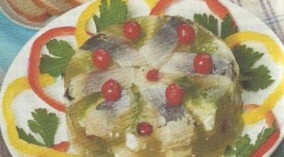 Закусочная сельдь в желе