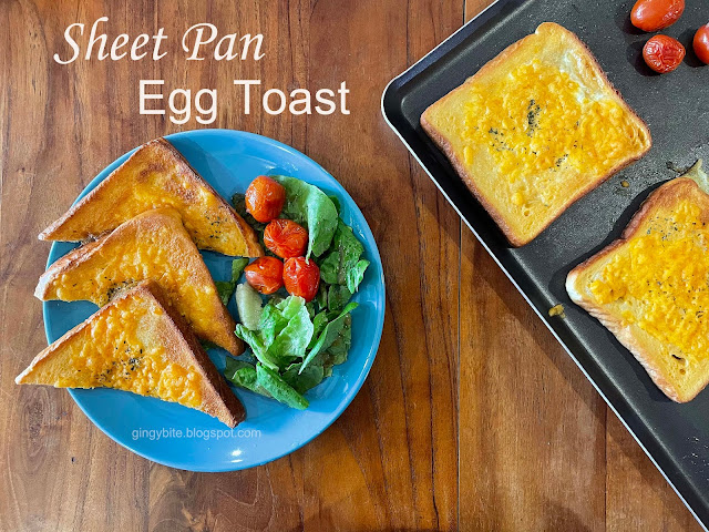 One Sheet Pan Baked Egg Toast