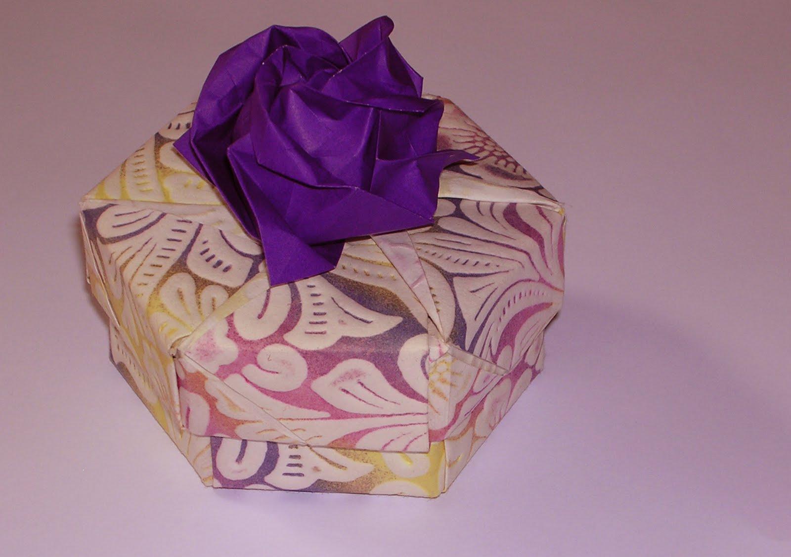box + kawasaki rose + instructions   ORIGAMI CONSTRUCTIONS - photo#10