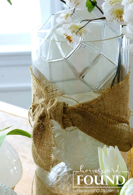 winter spring home decor use what you have glass globes