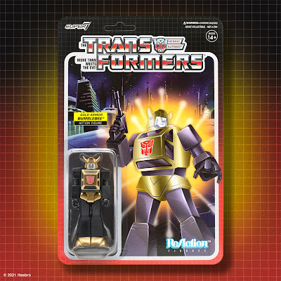 Target Exclusive Transformers Gold Armor Bumblebee ReAction Figure by Super7
