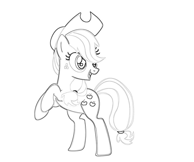6 My Little Pony Applejack Coloring Page