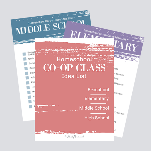 Homeschool Co-op Class Idea List #homeschoolco-op #homeschooling