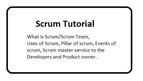 Scrum Tutorial - part 1