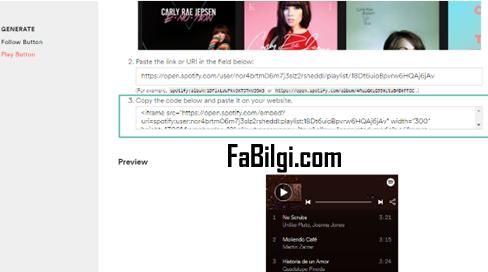 Blogger Spotify Çalma Listesini Sitenize  Ekleme (Widget) Anlatım 2020