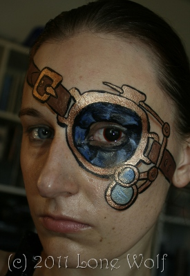 steampunk special fx makeup eyepatch / monocle - steampunk face painting effects sfx mua
