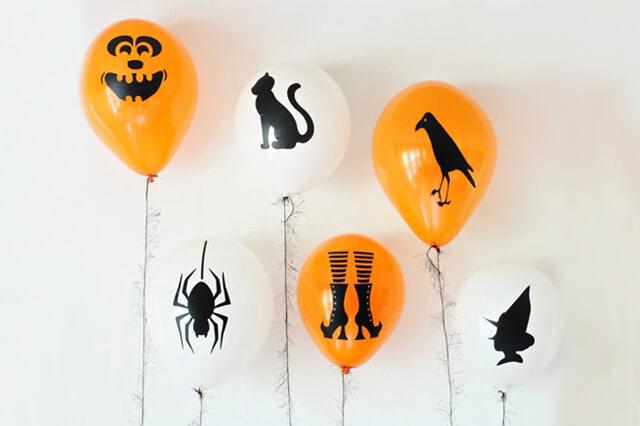 Globos terroríficos para halloween, manualidades