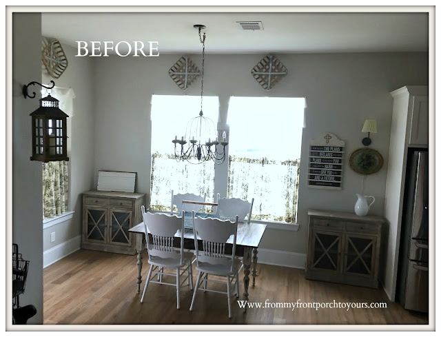 Breakfast- Nook -Makeover-Farmhouse Cabinetry-From My Front Porch To Yours