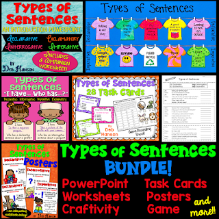 This types of sentences bundle is full of many engaging activities, including a PowerPoint, craftivity, worksheets, and games!