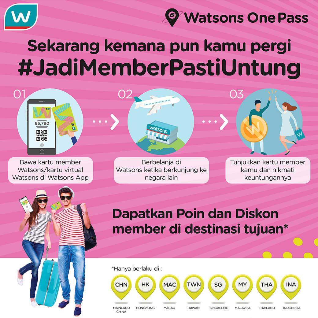 #JadiMemberPastiUntung karena #WatsonsOnePass bisa bikin kemanapun kamu pergi trip impian ke Hongkong atau ke beberapa negara di Asia lainnya pasti untung!