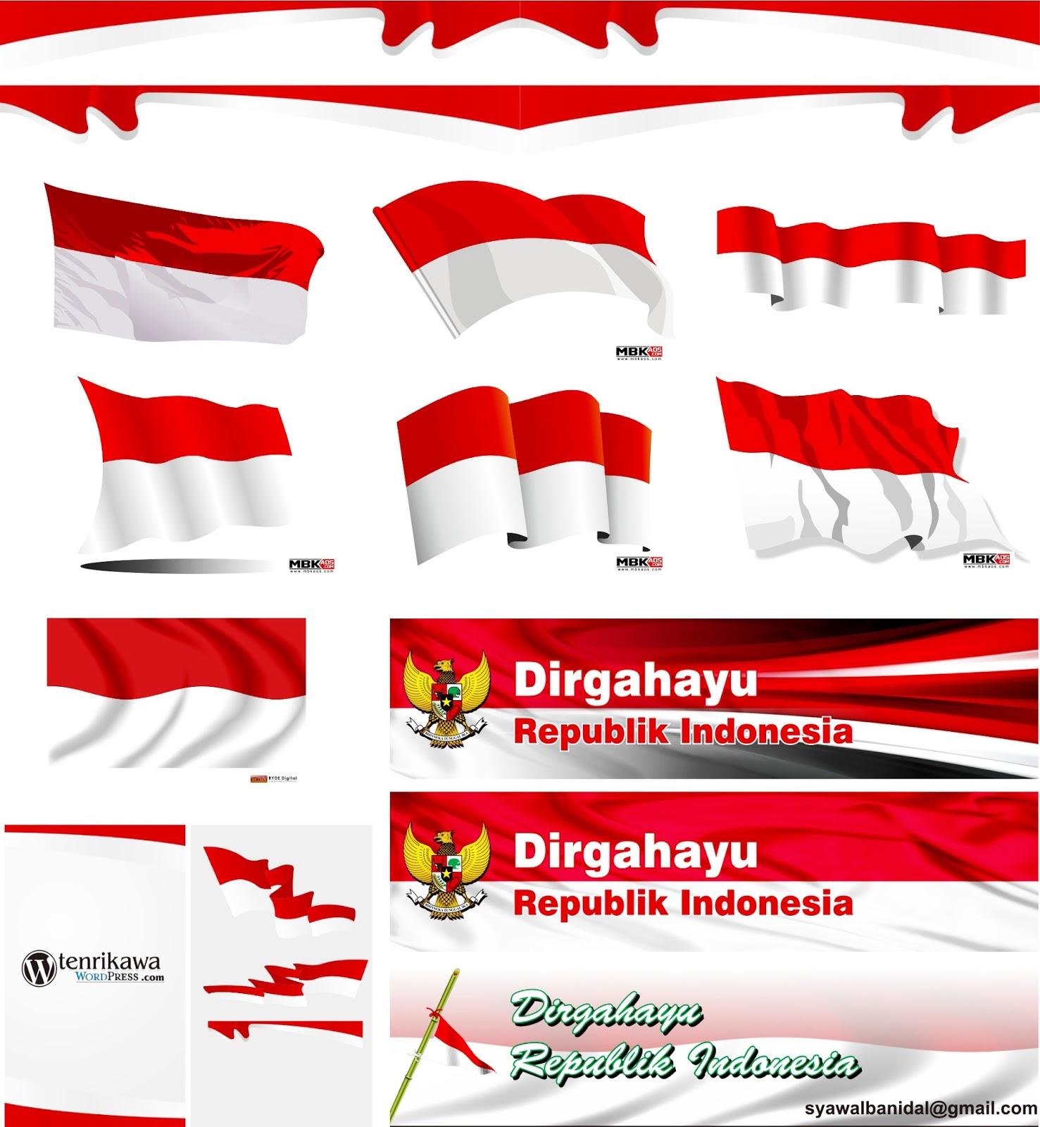 Gambar Bendera Merah Putih Vector Kumpulan Gambar Menarik