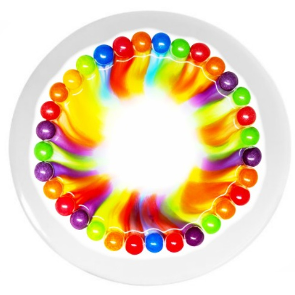 Explore beautiful science with the skittles rainbow experiment for kids!  This project is easy to set-up and great for all ages. #skittlesrainbowexperiment #skittles #skittlessciencefairproject #skittlesscienceexperiment #skittlesrainbow #skittlesexperimentforkids #sciencefairprojects #scieneexperimentskids