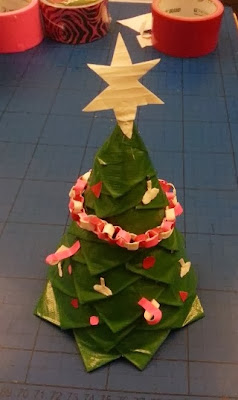 Christmas Tree from Duck Tape