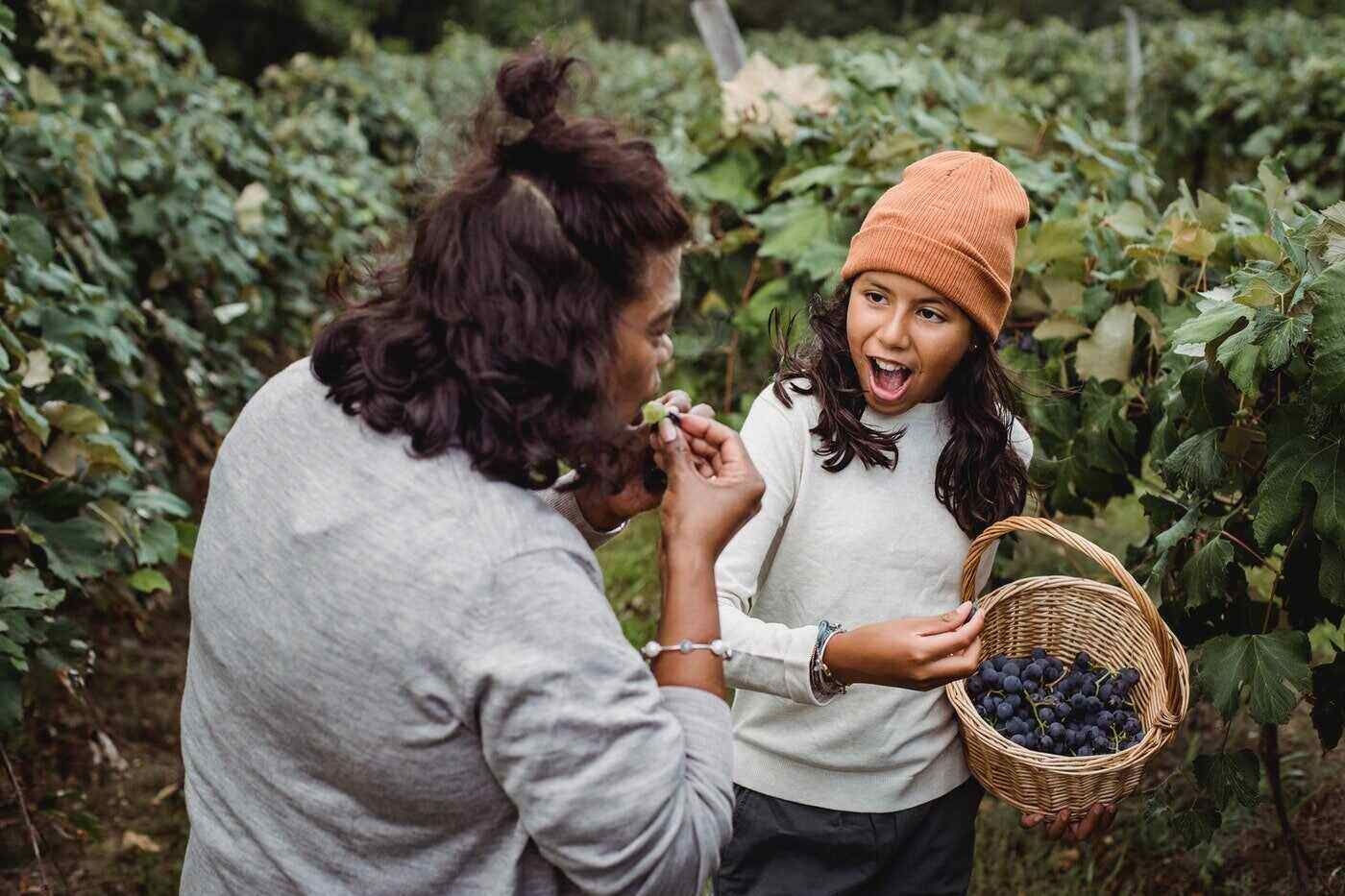 mother and teen playing in vineyard - connecting with your teen
