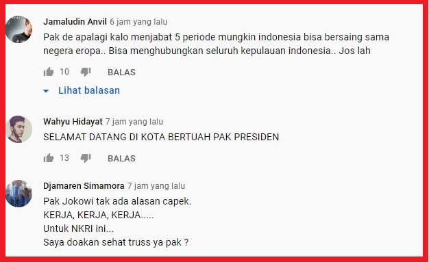 Dikritik Soal Sebut 'Provinsi Padang', Jokowi Justru Dipuji di Youtube, Netizen: Sampai 5 Periode Ya Pak!